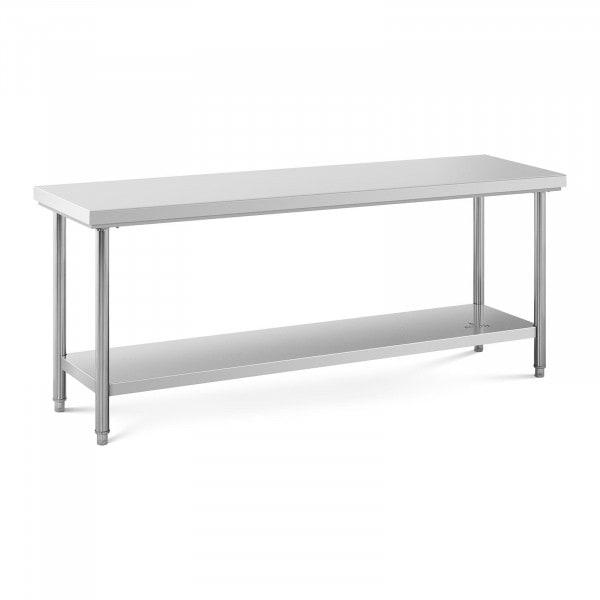 Stålbord - 200 x 60 cm - 160 kg bæreevne