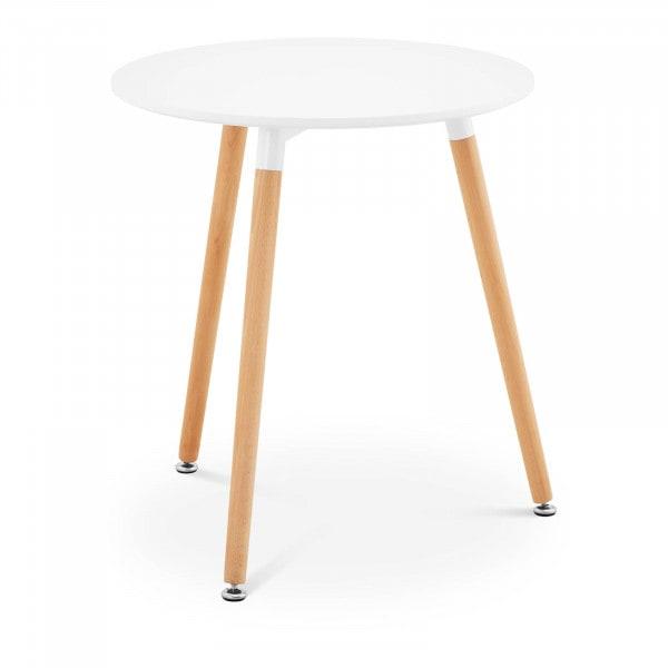 Brugt Rundt bord - 60 cm i diameter - hvidt
