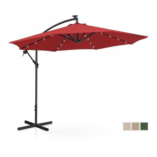 Brugt Hængeparasol - LED - rød - rund - 300 cm i diameter