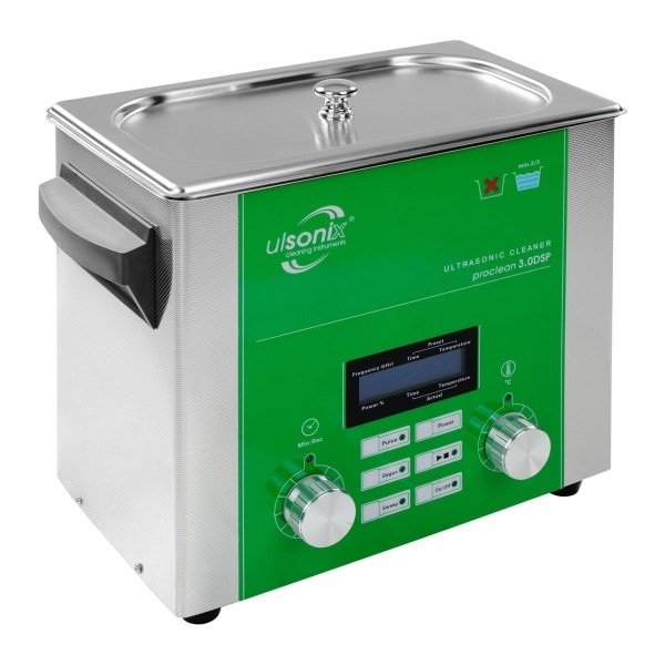 Gesamtansicht von Ultraschallreiniger - 3 Liter - Degas - Sweep -Puls