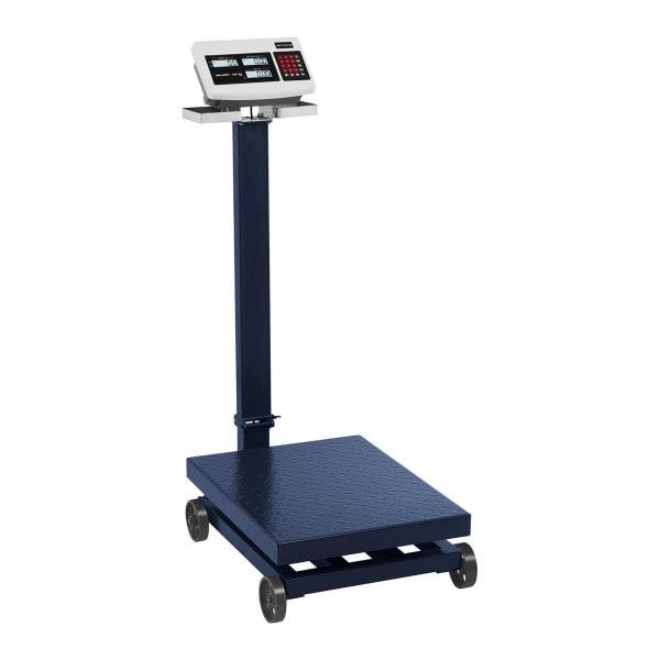 Industrivægt - 600 kg / 100 g - LCD - på hjul