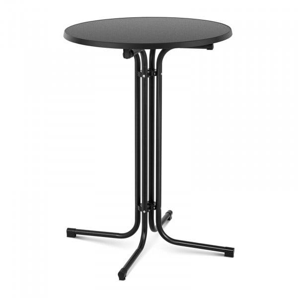 Brugt Ståbord - 80 cm i diameter - sammenklappeligt - sort