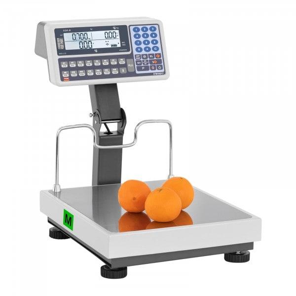 Brugt Butiksvægt - certificeret - LED på stang - 30 kg/10 g - 60 kg/20 g