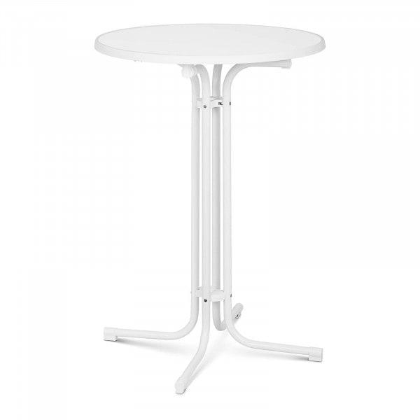 Brugt Ståbord - 80 cm i diameter - sammenklappeligt - hvidt