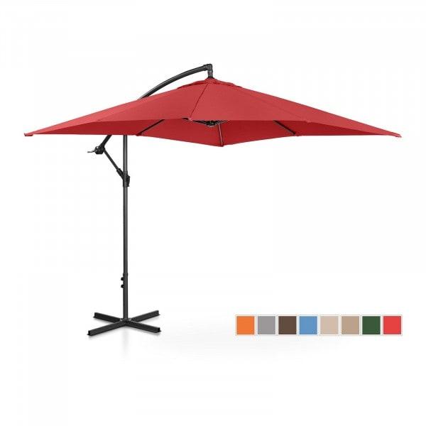 Brugt Hængeparasol - bordeaux - rektangulær - 250 x 250 cm - knæk-position