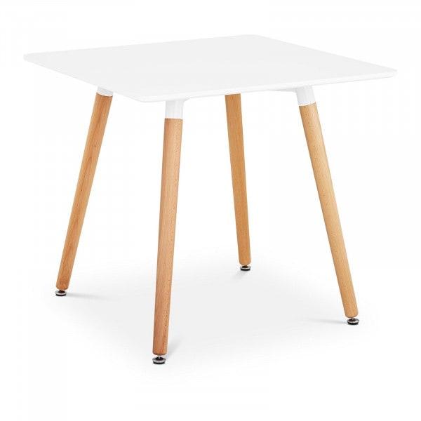 Brugt Spisebord 80 x 80 cm - hvidt