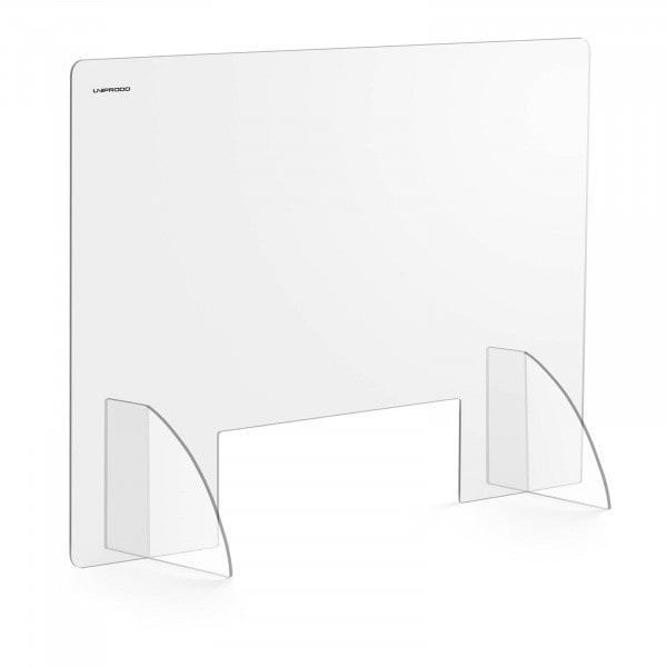 Brugt Plexiglas-skærm - 95 x 65 cm - luge 30 x 10 cm