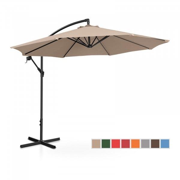 Brugt Hængeparasol - flødefarvet - rund - 300 cm i diameter - knæk-position