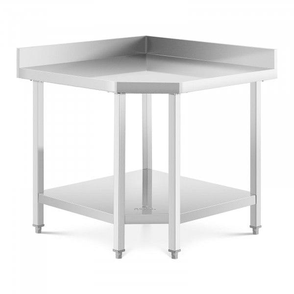 Hjørnebord rustfrit stål - 90 x 70 cm - 300 kg bæreevne