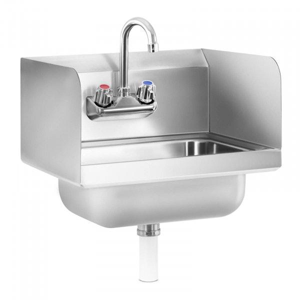 Stålhåndvask - inkl. armatur