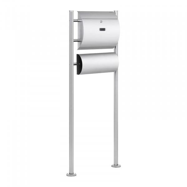 Brugt Postkasse rustfrit stål – med avisholder