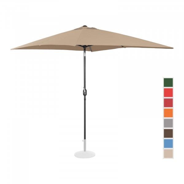 Brugt Parasol - taupe - rektangulær - 200 x 300 cm - knæk-position
