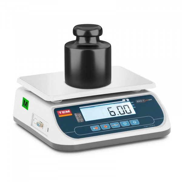 Brugt Bordvægt - certificeret - 6 kg / 2 g - dobbelt LCD