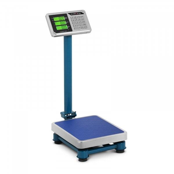 Brugt Industrivægt - rustfrit stål - 100 kg / 20 g - 40 x 30 cm - LCD