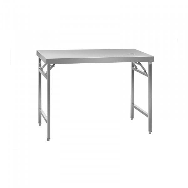 Stålbord - sammenklappeligt - 120 x 60 cm