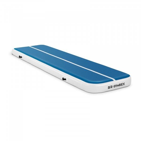 Brugt Træningsmåtte oppustelig - 400 x 100 x 20 cm - 200 kg - blå/hvid