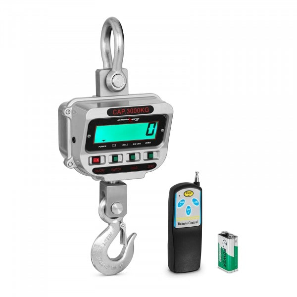 Kranvægt - 3 t / 0,5 kg- LCD