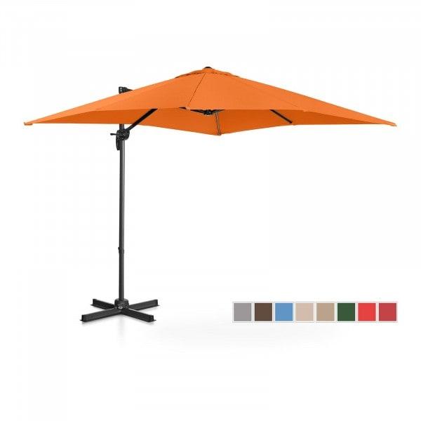 Brugt Hængeparasol - orange - firkantet - 250 cm i diameter - drejelig
