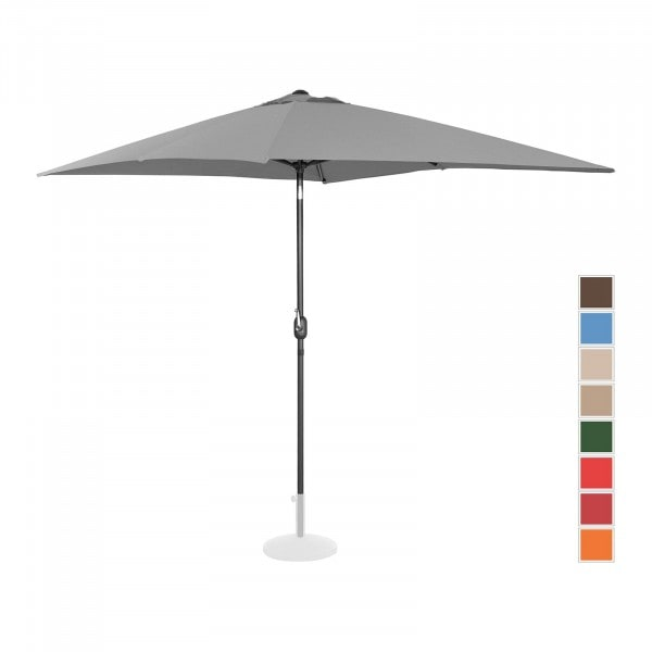 Brugt Parasol - mørkegrå - rektangulær - 200 x 300 cm - knæk-position