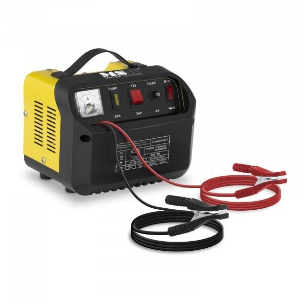 Brugt Batterilader til bil - 12/24 V - 8/12 A - kontrolpanel med hældning