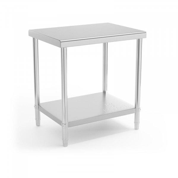 Stålbord - 80 x 60 cm - 190 kg bæreevne