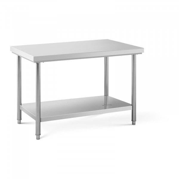Stålbord - 120 x 70 cm - 143 kg bæreevne
