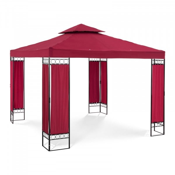 Brugt Telt-pavillon - 3 x 3 m - 160 g/m² - vinrød