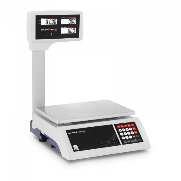 Brugt Butiksvægt - 30 kg / 5 g - LCD på stang