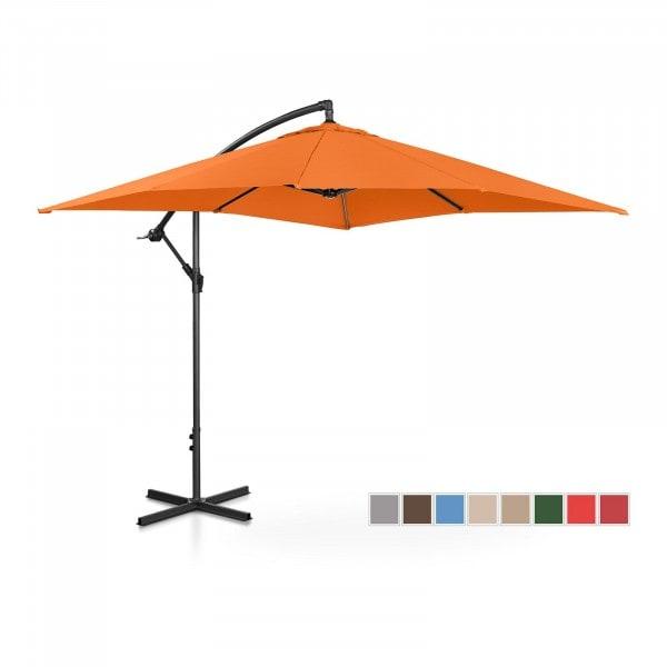 Brugt Hængeparasol - orange - rektangulær - 250 x 250 cm - knæk-position