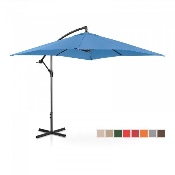Brugt Hængeparasol - blå - rektangulær - 250 x 250 cm - knæk-position