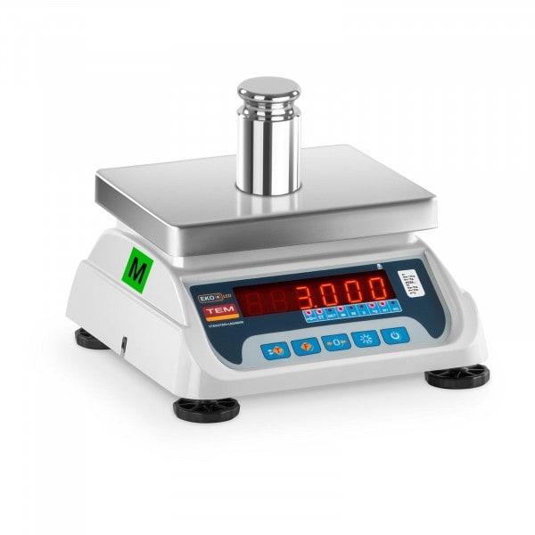 Brugt Bordvægt - 1,5 kg/ 0,5g - 3 kg/1 g - LED