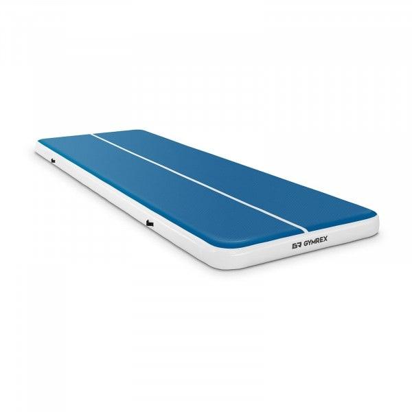 Brugt Træningsmåtte oppustelig - 600 x 200 x 20 cm - 400 kg - blå/hvid