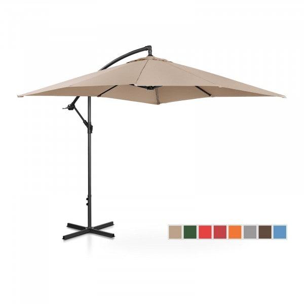 Brugt Hængeparasol - flødefarvet - rektangulær - 250 x 250 cm - knæk-position
