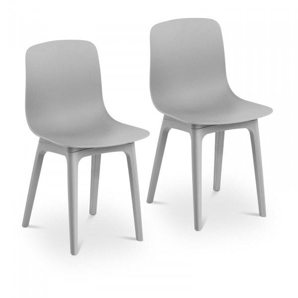 Brugt Spisebordsstole - 2 stk. - maks. 150 kg - sæde 44 x 41 cm - grå