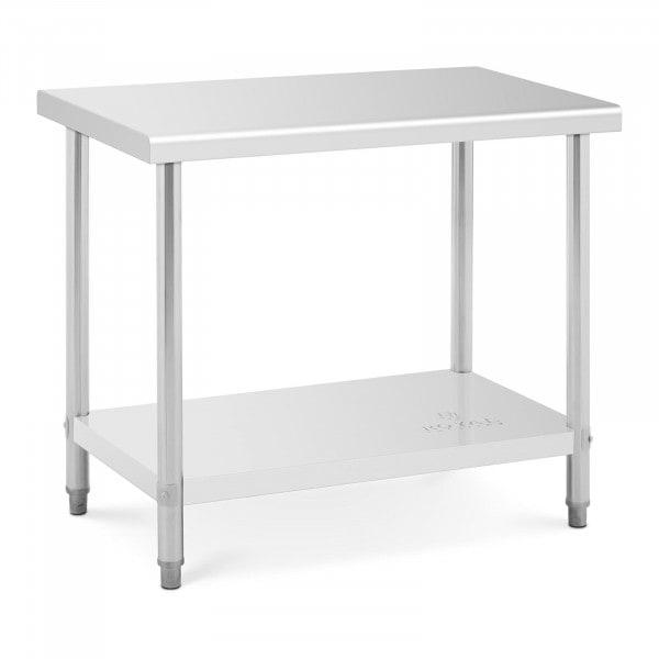 Stålbord - 100 x 60 cm - bæreevne 90 kg