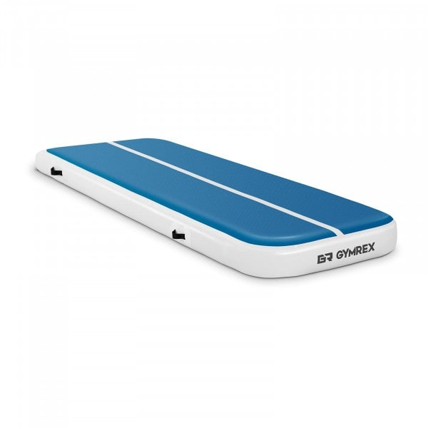 Brugt Træningsmåtte oppustelig - 300 x 100 x 20 cm - 150 kg - blå/hvid