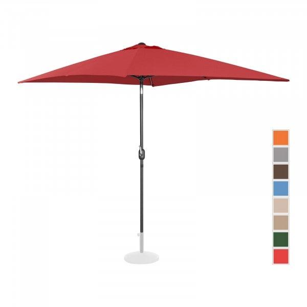Brugt Parasol - bordeaux - rektangulær - 200 x 300 cm - knæk-position