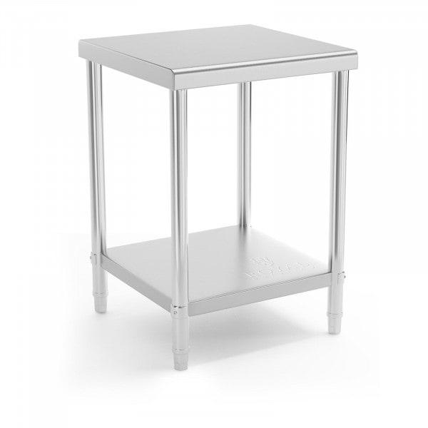 Stålbord - 60 x 60 cm - 150 kg bæreevne