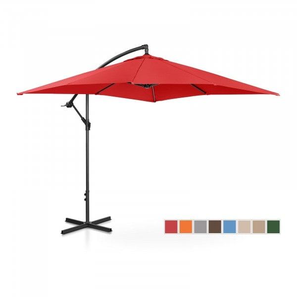 Brugt Hængeparasol - rød - rektangulær - 250 x 250 cm - knæk-position