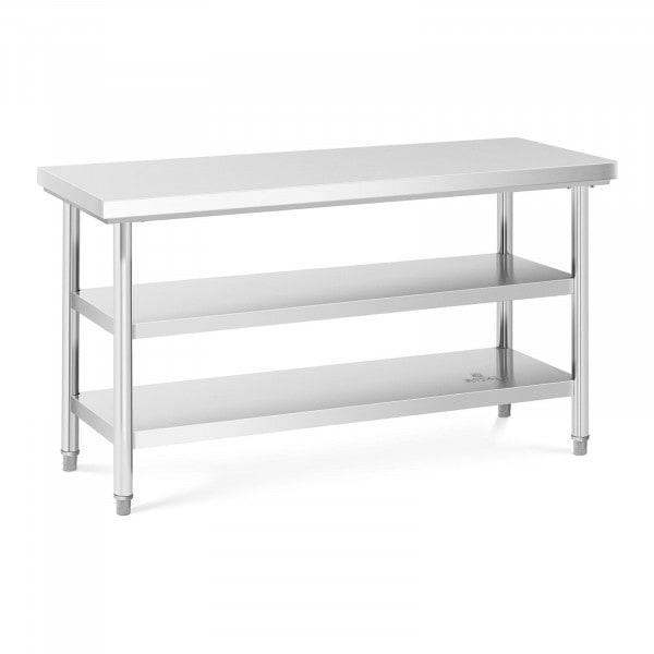 Stålbord - 150 x 60 cm - 600 kg - 3 bordplader