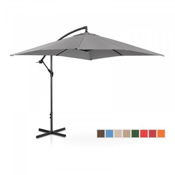 Brugt Hængeparasol - mørkegrå - rektangulær - 250 x 250 cm - knæk-position