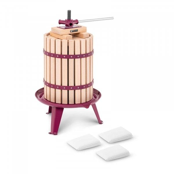Brugt Mostpresser - hånddrevet - træ - 18 l - inkl. 3 presseduge