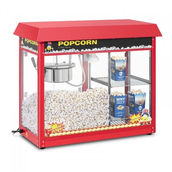 Popcornmaskine med dobbelt montre - rød