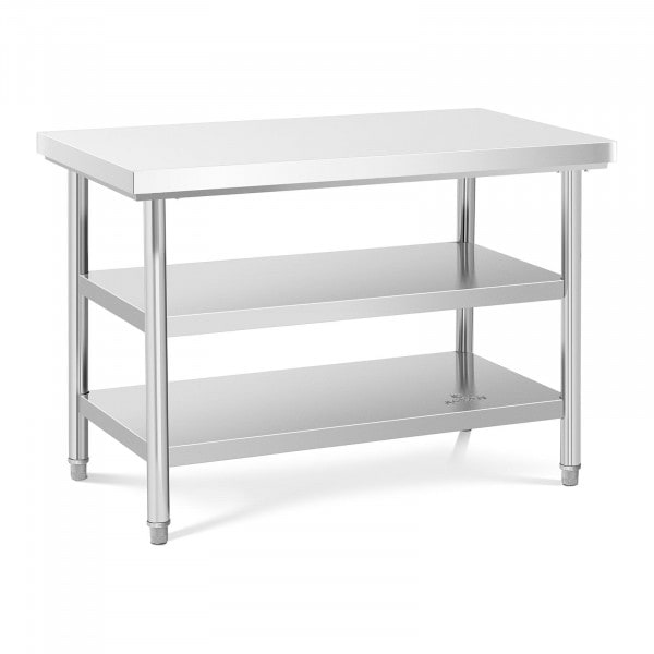Stålbord - 120 x 70 cm - 600 kg - 3 bordplader