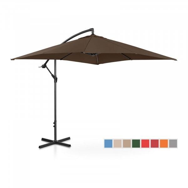 Brugt Hængeparasol - brun - rektangulær - 250 x 250 cm - knæk-position