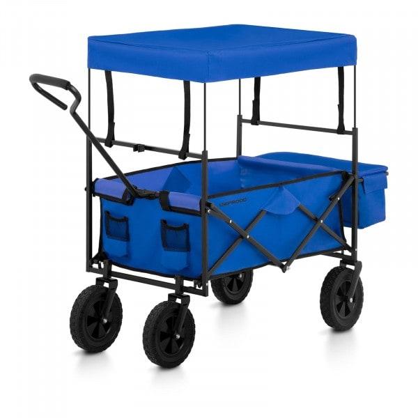 Brugt Sammenklappelig trækvogn med tag - blå