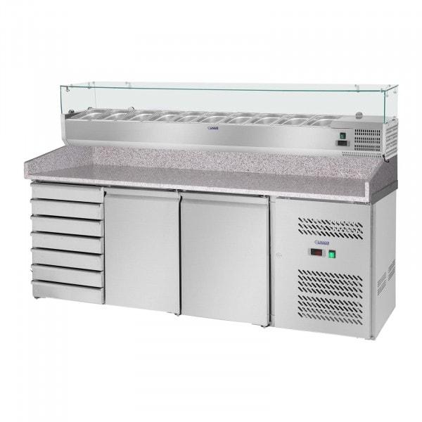 Brugt Pizzadisk - 702 l - bordplade i granit - 2 køleskabe