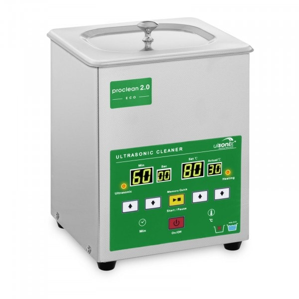 Ultralydsrenser - 2 liter - 60 W - Memory Quick Eco