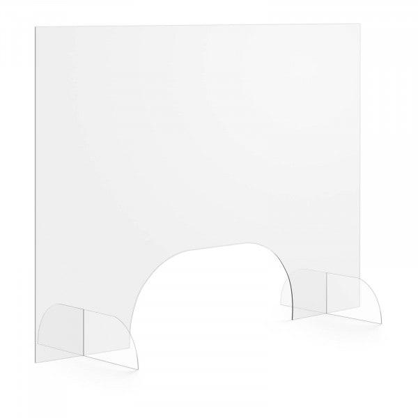 Brugt Plexiglas-skærm - 100 x 70 cm - luge 50 x 20 cm