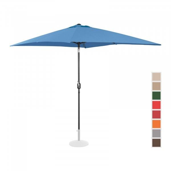 Brugt Parasol - blå - rektangulær - 200 x 300 cm - knæk-position